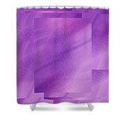 Brushed Purple Violet 6 Shower Curtain