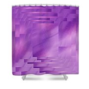 Brushed Purple Violet 8 Shower Curtain