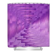 Brushed Purple Violet 9 Shower Curtain