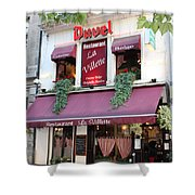 Brussels - Restaurant La Villette With Trees Shower Curtain by Carol Groenen
