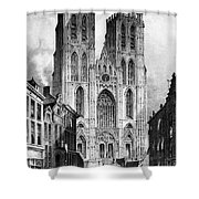 Brussels: Cathedral, 1838 Shower Curtain