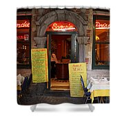 Brussels - Restaurant Savarin Shower Curtain