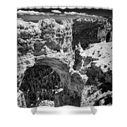 Bryce Canyon Arch - Black And White Shower Curtain