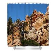 Bryce Canyon Santa Clause Shower Curtain