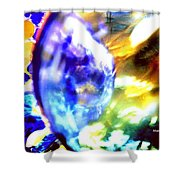 Bubble Abstract 001 Shower Curtain