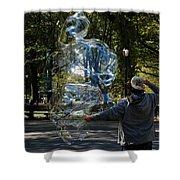 Bubble Boy Of Central Park Shower Curtain