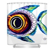 Bubble Fish One Shower Curtain