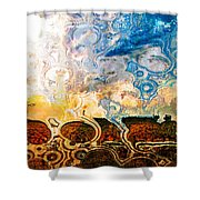 Bubble Landscape Abstract Shower Curtain