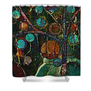 Bubble Tree - Spc01ct04 - Left Shower Curtain