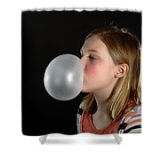 Bubblegum Bubble 3 Of 6 Shower Curtain