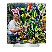 Bubbles And Bunny Ears Shower Curtain