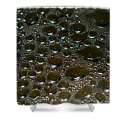 Bubbles Of Steam Black Shower Curtain