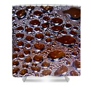 Bubbles Of Steam Cherry Wine Red Shower Curtain
