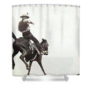 Bucking Bronco, C1888 Shower Curtain
