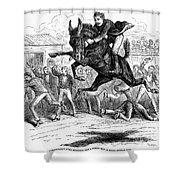 Bucking Mule, 1879 Shower Curtain