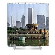 Buckingham Fountain - 1 Shower Curtain