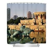 Buckingham Fountain - 3 Shower Curtain