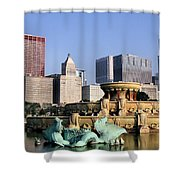 Buckingham Fountain - 4 Shower Curtain