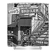 Bud'd Broiler New Orleans-bw Shower Curtain