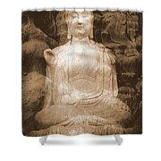Buddha And Ancient Tree Shower Curtain