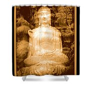 Buddha And Ancient Tree With Border Shower Curtain