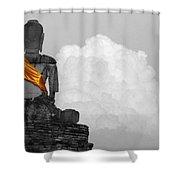 Buddha Contemplation Shower Curtain