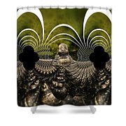 Buddha Fractal Shower Curtain