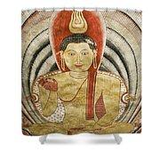 Buddha Painting In Sri Lanka Shower Curtain