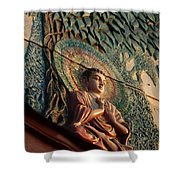 Buddha Relief Shower Curtain