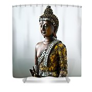 Buddha Statue With A Golden Robe Shower Curtain