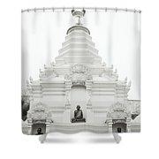 Buddhist Chedi Shower Curtain