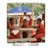 Buddhist Childhood Shower Curtain