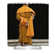 Buddhist Monk 1 Shower Curtain by Bob Christopher