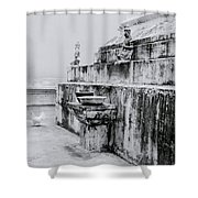 Buddhist Simplicity Shower Curtain