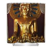 Buddhist Statue In Wat Phra Singh Shower Curtain