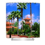 Buddhist Temple Shower Curtain