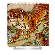 Buddhist Temple Decorations In Shower Curtain