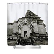 Buddhist Wat Chedi Luang Shower Curtain