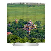 Buddist Temple Shower Curtain