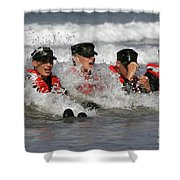 Buds Students Participate In A Surf Shower Curtain