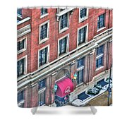 Buffalo Athletic Club Downtown Winter Shower Curtain
