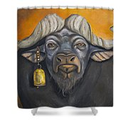 Buffalo Bells Shower Curtain