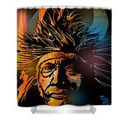Buffalo Headdress Shower Curtain