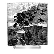 Buffalo Hunt, 1834 Shower Curtain