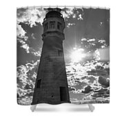 Buffalo Lighthouse 16717b Shower Curtain