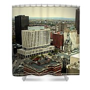 Buffalo New York Aerial View Shower Curtain