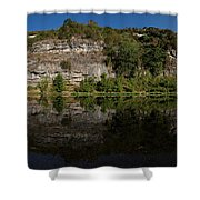 Buffalo River Bend Panorama Shower Curtain