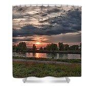 Buffalo Sunset 14390 Shower Curtain