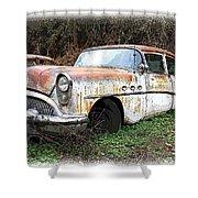 Buick Yard Shower Curtain by Steve McKinzie