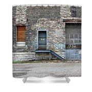 Building No.3 Garage Door Shower Curtain